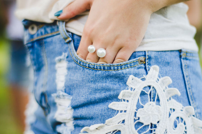 Adult Blue Care Casual Clothing Child Close-up Denim Females Hand Holding Human Body Part Human Hand Jeans Midsection Offspring People Selective Focus Textile Two People Women