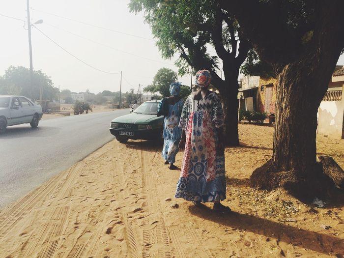 African Taxi Women Sand Street