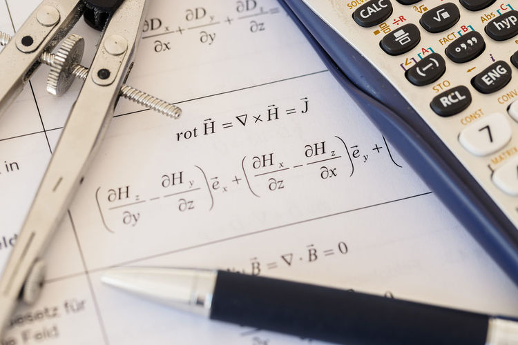 Algebra Ball Pen Biro Brain Calculator Calculus Close-up Dividers Electrical Engineering Engeneering Equation Formula Learn Mathematics Number Paper School University
