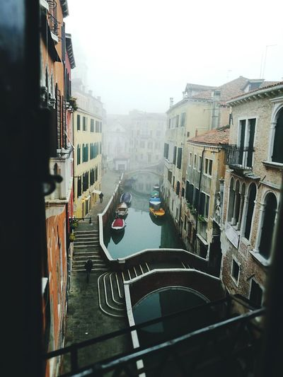 Venice's hotel view (Venezia) Architecture Fog Canal No People First Eyeem Photo