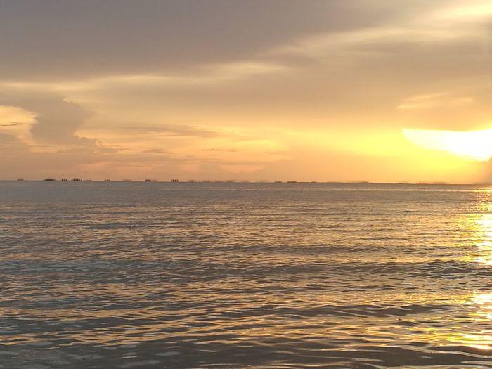 Sunset Sea Beach Cloud - Sky Scenics Sun Nature Orange Color Outdoors Travel Sky
