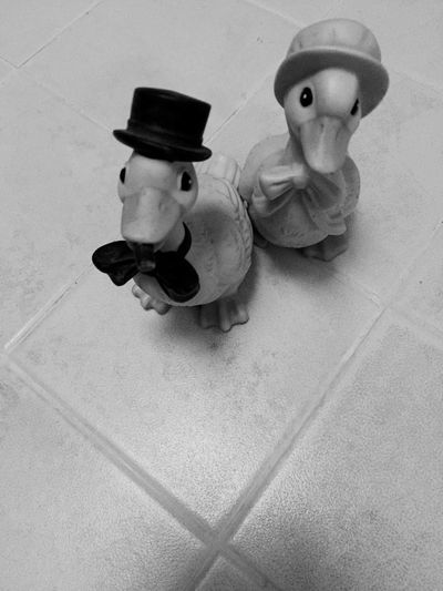 Two Is Better Than One Ducks Two Male And Female Toy Ducks Home Collection Decoration