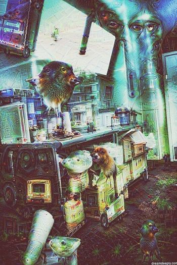 Animal Themes For Sale Cage Indoors  Lifestyles Close-up Deep Dream Generator Downtown District Ajar