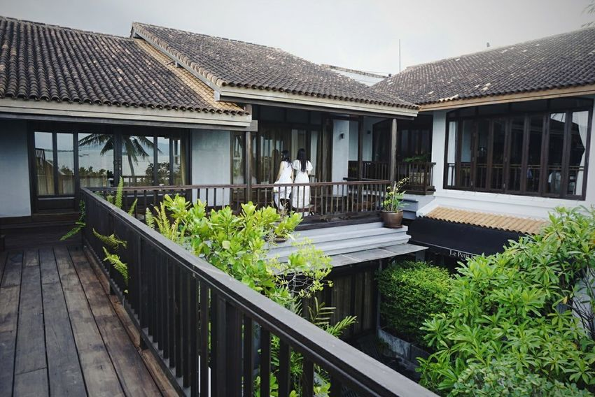 Architecture Built Structure Wood - Material Outdoors Day Tree Resort Resort Hotel Vacations Hotel Thailand Women Girl White Dress Long Hair Balcony Travel Sky EyeEmNewHere Second Acts