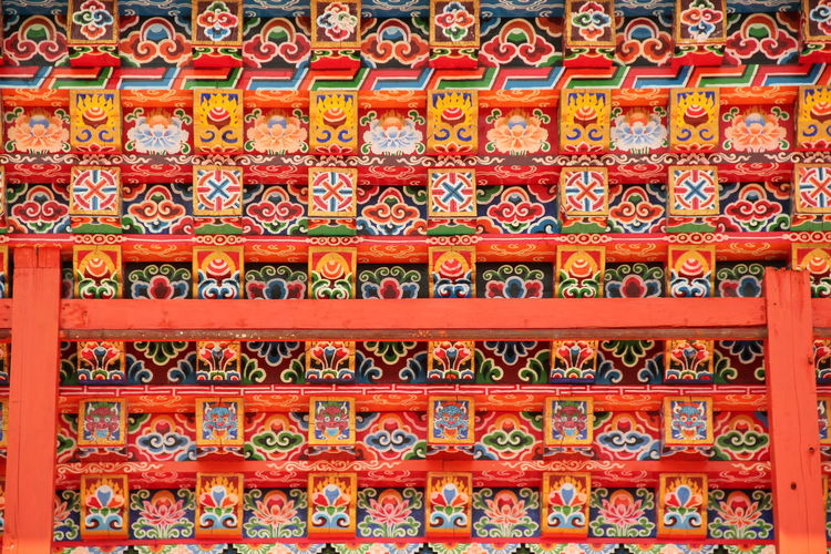 Pattern Design Full Frame Religion Red Architecture Close-up Colorful Backgrounds