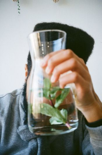 One Person Holding Indoors  Drink Human Body Part Food And Drink Refreshment Glass Human Hand Real People Close-up Body Part Hand Men Freshness Alcohol Drinking Glass Front View Drinking