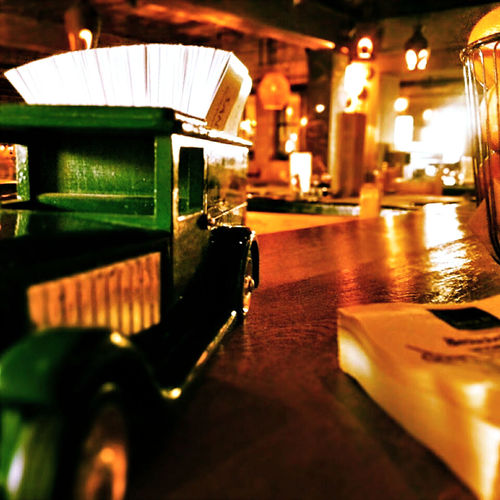 Bar Car Counter Indoors  Night Restaurant Decor Retaurant Still Life