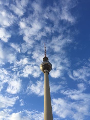 Alexanderplatz Architecture Blue Built Structure Capital Cities  City Cloud Cloud - Sky Cloudy Communications Tower Culture Famous Place Fernsehturm International Landmark Low Angle View No People Outdoors Sky Sphere Spire  Tall - High Television Tower Tourism Tower Travel Destinations