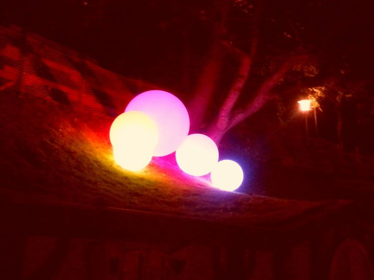 Millenial Pink No People Low Angle View Night Illuminated Outdoors Close-up Pink Pinkcolour Pink Color Nightlife Millennial Pink Pinkballoons Pinkballoon Balloons Balloon Gardaland Gardalandpark Gardaland :) Party Time Happiness Happyness Joyful Moments Joyful Joyfullife