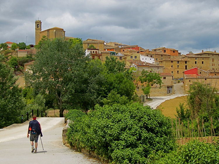 The Tourist Spain ✈️🇪🇸 Summertime El Camino De Santiago Hot Small Village Walking Backpacker Hot Lush Green Trees Walking Path Deterioration Old Pattern Pieces