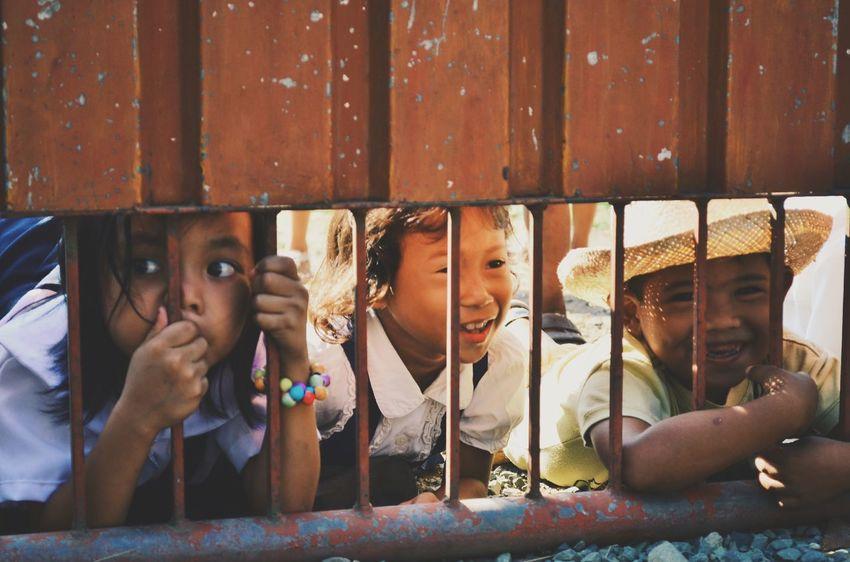 Streetphotography People Cute Kids watching Streetparade