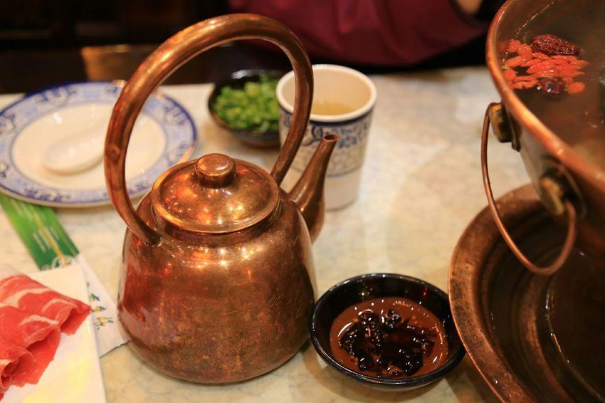 Chinese Traditional Food Hotpot Hotpot Dinner Teapot