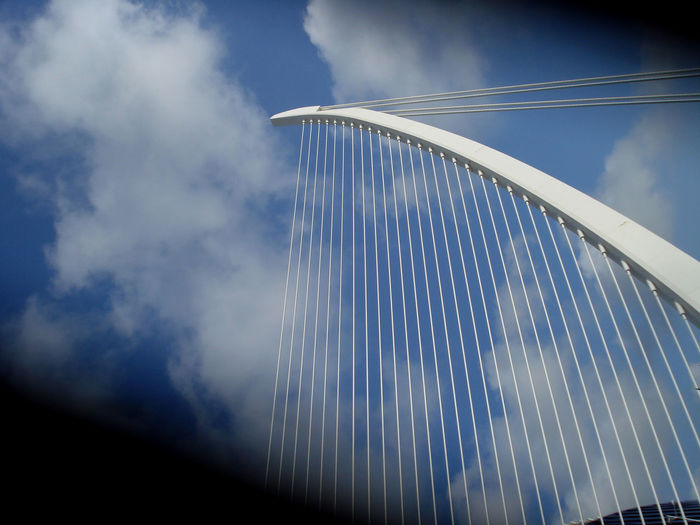 Abstract Architectural Feature Blue Cloud Cloud - Sky Modern No People Outdoors Poin Of View Sky