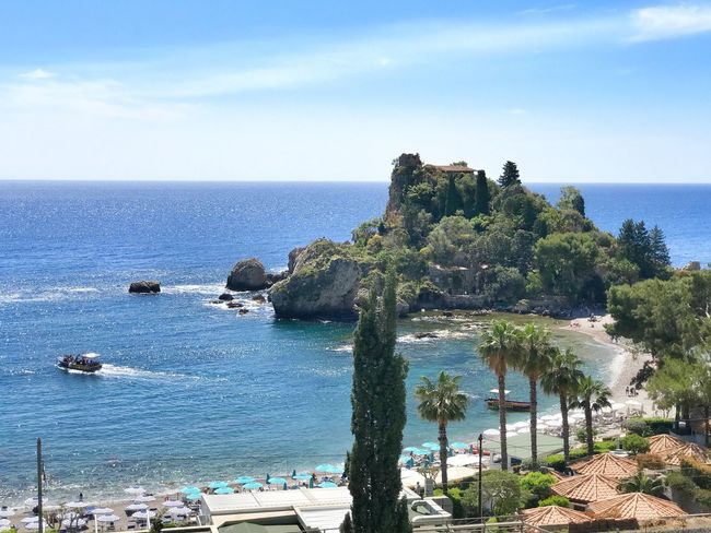 Isola Bella Costa Orientale - Sicilia Sicily Siciliabedda Sea Water Horizon Over Water Nature Sky Scenics Beauty In Nature Tranquility Blue Outdoors Day Tranquil Scene Rock - Object No People Beach Cliff Building Exterior Architecture Blue Sky Sicilia Sicily ❤️❤️❤️ Beauty In Nature The Great Outdoors - 2017 EyeEm Awards