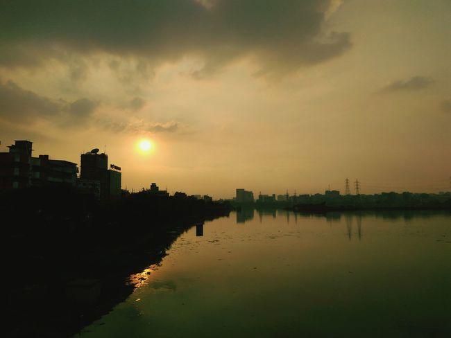 Jatir khele,dhaka,bangladesh Sun Waterfront Outdoors Sky Sunset Check This Out Taking Photos Dhaka, Bangladesh Hello World Mobography