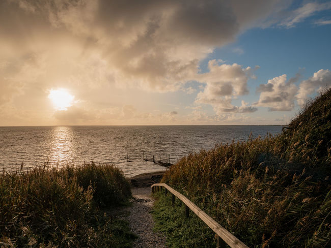 EyeEm Best Shots EyeEm Nature Lover EyeEmNewHere Nature Photography Beach Beauty In Nature Cloud - Sky Grass Horizon Horizon Over Water Idyllic Land Marram Grass Nature Nature_collection No People Outdoors Plant Scenics - Nature Sea Sky Sunset Tranquil Scene Tranquility Water
