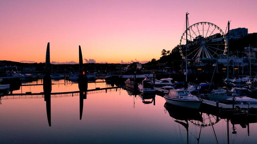 Sunset at Torquay Harbour First Eyeem Photo
