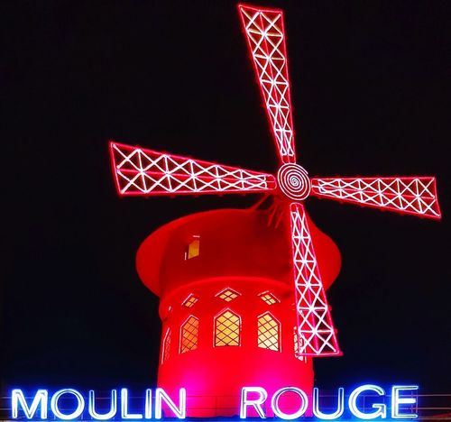 Paris Paris, France  Paris ❤ Paris Je T Aime Moulin Rouge Moulin Moulinrouge Red Lights Lights In The Dark Red Night Illuminated Business Finance And Industry Neon Travel Destinations Christmas Decoration Low Angle View Outdoors Sky No People City
