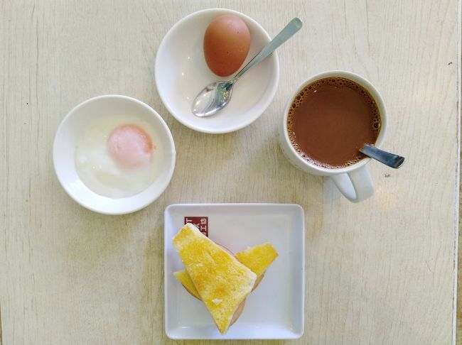 Singapore Breakfast 1 Coffee Soft Boiled Egg Toast🍞 EyeEm Selects Drink Tea - Hot Drink Breakfast Frothy Drink Table Coffee - Drink High Angle View Directly Above Coffee Cup Sugar Hot Drink