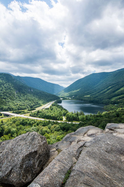 View from Artist's Bluff, Franconia, NH Mountain View Vacations View Beauty In Nature Bluff Cliff Cloud - Sky Day Landscape Mountain Mountain Peak Mountain Range Mountains Nature New Hampshire No People Outdoors River Scenics Sky Tranquil Scene Tranquility Travel Destinations Tree Water