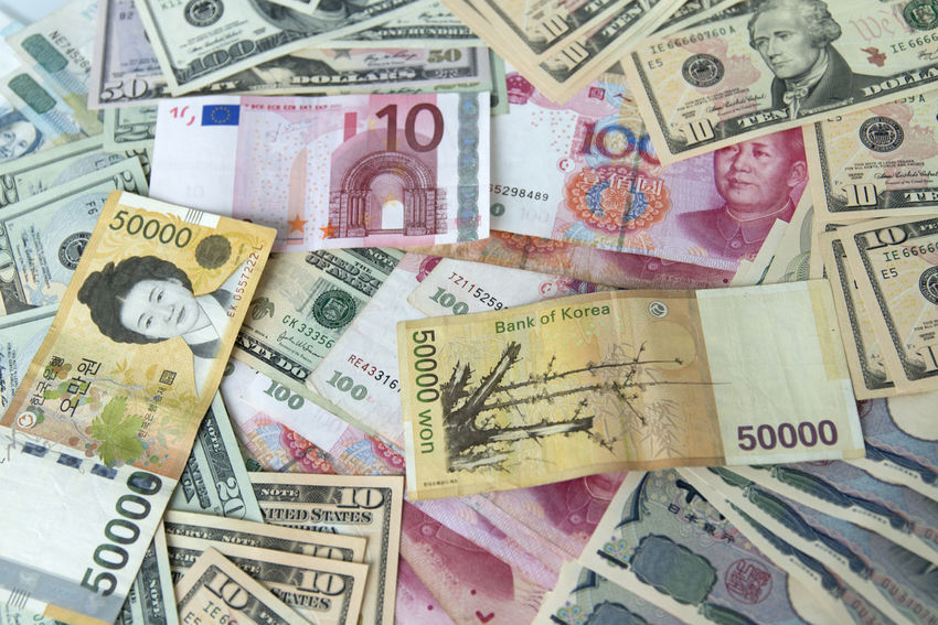 money Backgrounds Business Check This Out Close-up Corporate Business Currency Day Finance Indoors  Korea Large Group Of Objects No People Paper Currency Peso Savings US Dollar USA Wealth Won WON Currency YUAN