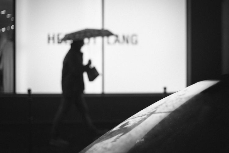 Blackandwhite City Life Monochrome Nikonphotography Rain Silhouette Streetphotography Umbrella Urban
