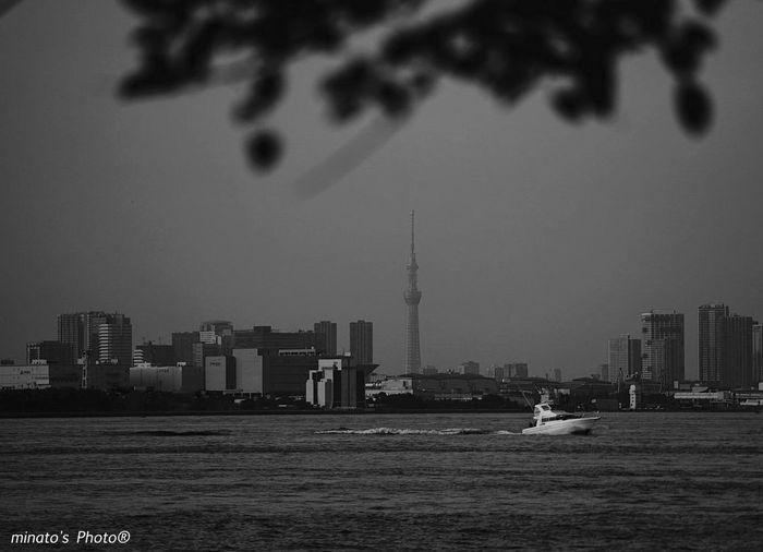 いい眺めだ! 城南島海浜公園 Sea EyeEm EyeEm Best Shots スカイツリー Monochromatic Black & White モノクロ