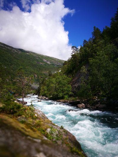 Waterfall in Norway Waterfall Norway Landscape