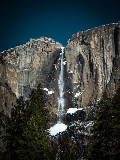 Yosemite falls Motion Rock - Object Water Waterfall Long Exposure Beauty In Nature Scenics Rock Formation Mountain Nature Rocky Mountains Power In Nature Geology Rock Cliff Non-urban Scene Outdoors Day Sky Majestic