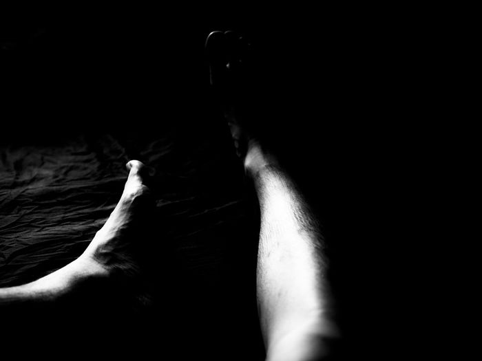 Dark Darkness And Light Darkroom Day Domestic Life From My Darkne Leg Monocrome Person Personal Perspective White And Black