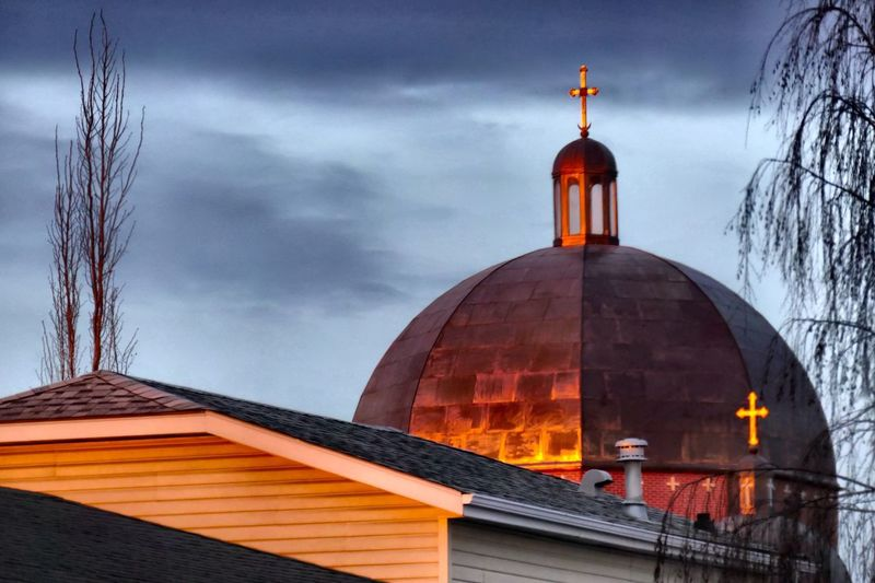 Roof variations. Dome Church Steeple Reverence Rooftops Copper  Sun Rise New Hope Coloured Reddened Sun Blush Copper-clad Orthodox Orthodox Church