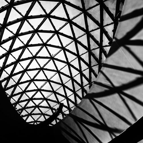 Pattern Geometric Shape Indoors  Architecture Built Structure No People Shape Low Angle View Backgrounds Ceiling Sunlight Design Shadow Day Metal Steel Dali Museum