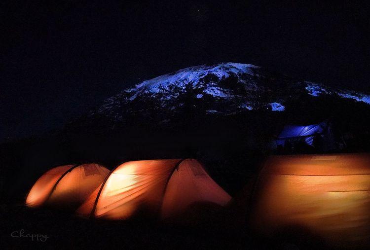 Night on Kilimandscharo IPhone Night Illuminated No People Nature Dark Indoors  Light - Natural Phenomenon