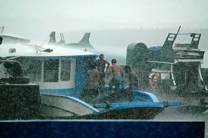 Water Spraying Wet Transportation Nautical Vessel Rain Tropical Storm Typhoon Storm Working Boat Rainstorm Stormy Weather Weather Downpour Raining Tropical Paradise Traveling Lifestyle Outdoors Be. Ready. Business Stories