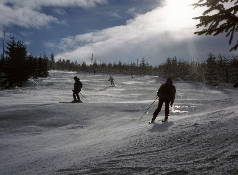 Cold Temperature Karkonosze Landscape Ski Skier Skiers Skiing Snow Szrenica Winter Winter Holidays Winter Sport
