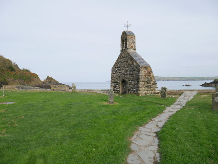 Ruins Of St Brynach Church Against Sky