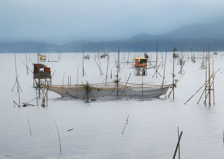 Kerinci Lake of Jambi Winter Snow Cold Temperature Water Lake Full Length Sky