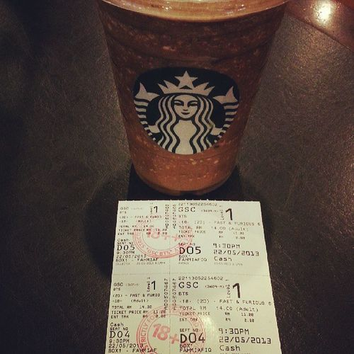 Starbuck before movie Fast & furious 6 2d GSC times square malaysia