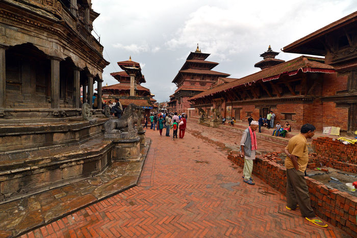 Unesco heritage architecture in Kathmandu, Nepal. Most of ancient temples and buildings were destroyed after a massive earthquake in April, 2015 Ancient Ancient Architecture Architecture Bhaktapur Brick Buddhism Destination Durbar Square Famous Place Heritage Hindu Kathmandu Kathmandu Valley Kathmandu, Nepal Nepal Nepal #travel Nepalearthquake Nepalese Nepali  Nepali Culture Pagoda Patan Durbar Square Sacred Street Temple