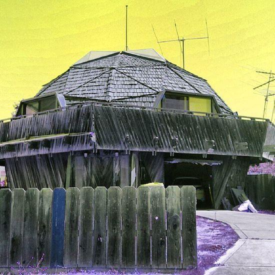 Interesting house Weird Interesting Bayarea Alviso California Instaeffect Picture Effects Crazycolors Fun Wood Creative