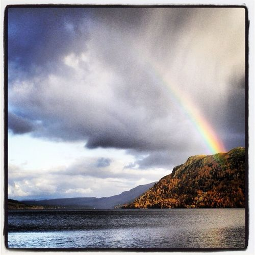 Rainbow Over Lake Ulswater Cumbria
