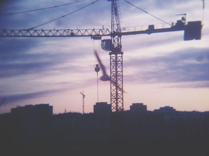 Oslo Early Morning Crane View