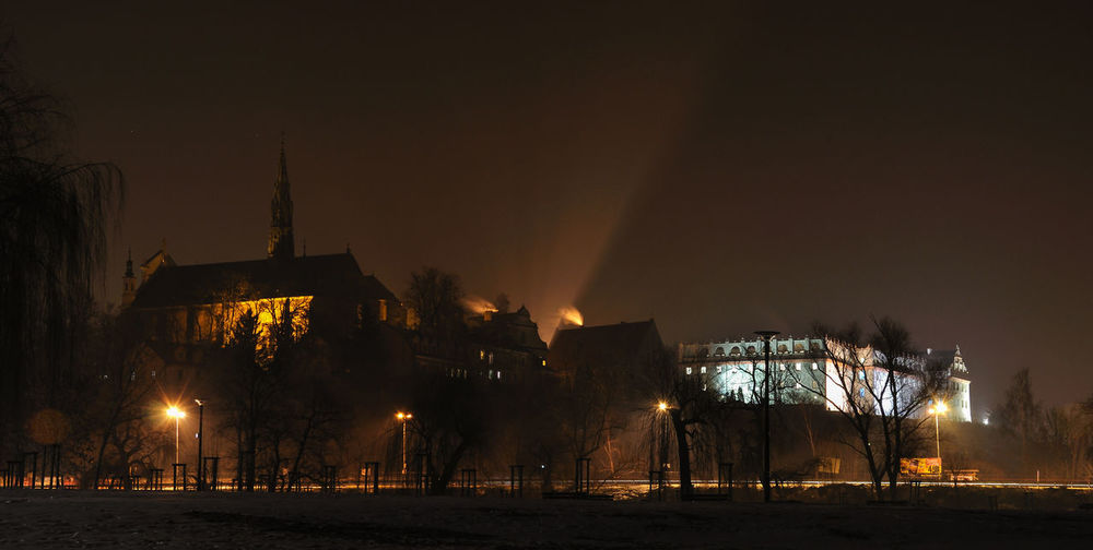 Castle Lights Night Town Nightphotography Old Town Poland Sandomierz Old Buildings