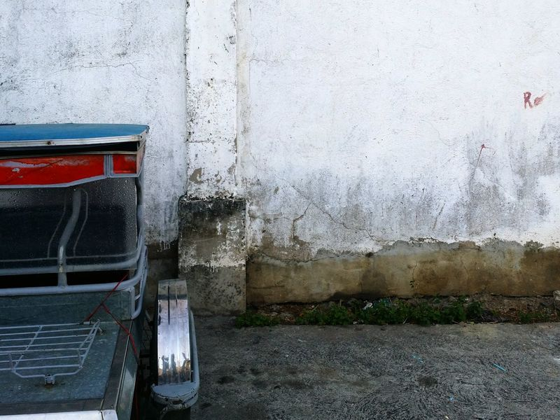Face the wall. Wall Wall Painting Tricycle Not Moving Steady Walls Street Street Photography Showcase February Eyeem Philippines Eyeem Photography Wall Color From My Point Of View Facing The Wall The Week On EyeEm Road Ahead Showcase: February
