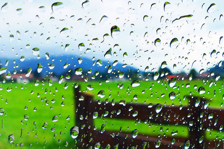 it rains Backgrounds Close-up Day Drop Focus On Foreground Full Frame Glass Glass - Material Green Color Monsoon Nature No People Outdoors Purity Rain RainDrop Rainy Season Rainy Wether Transparent Water Wet Window