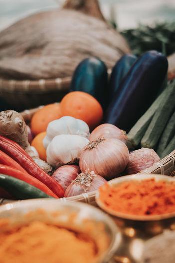 Close-up of vegetables in market