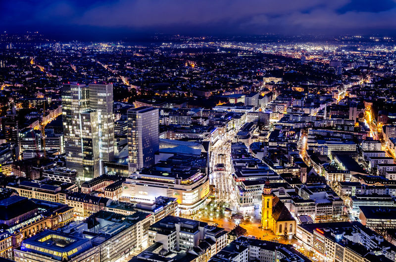 Frankfurt Hauptwache Hauptwache Architecture Building Exterior City Cityscape Built Structure Illuminated Night Building High Angle View Crowd Travel Destinations Office Building Exterior Residential District Financial District  Outdoors Street Skyscraper Sky Modern City Life