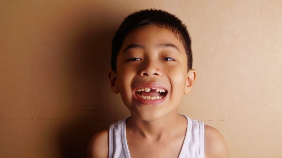Portrait of smiling cute boy