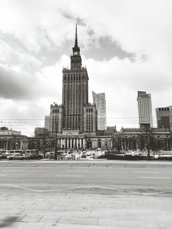 Palaceofcultureandscience Warsaw Architecture Travel Destinations Sky Tower Cityscape Travel City No People Building Exterior Skyscraper Outdoors Arrival Urban Skyline Clock Day First Eyeem Photo
