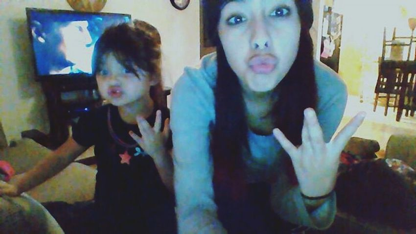 navinah and I My Little Cousin ❤ Westsidee Kissyface (;